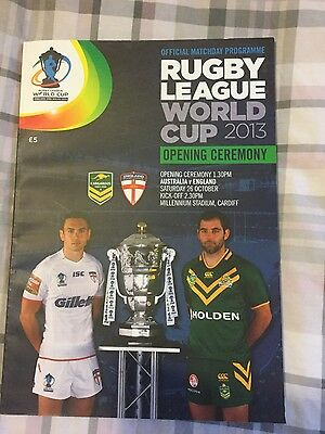 Rugby League World Cup 2013 Matchday Programme
