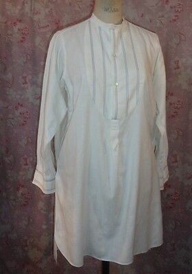 *chemise  Ancienne . . Homme . . Plastron Raye.. Rustique . Campagne