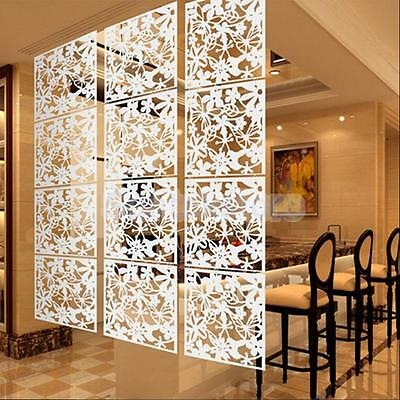 Set of 4Pcs Flower Wall Sticker Hanging Screen Panel Room Divider Partition PICK