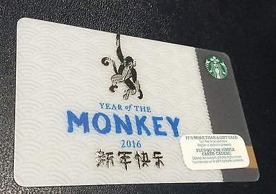 "STARBUCKS Canada: (SB#194) ""Year of the Monkey - 2016"" Collectable Gift Card"