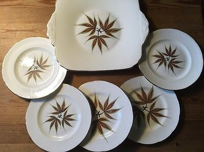 Serving Plate And 5 Side Plates