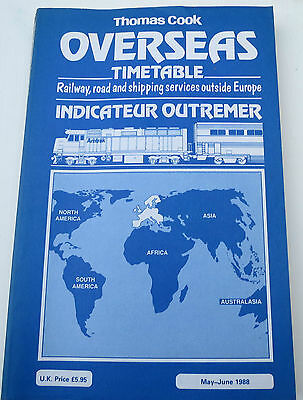 Thomas Cook Overseas Timetable May - June 1988 - Blue Book