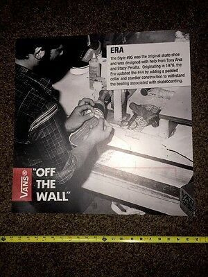Rare Vans Off The Wall Vault Vinyl Footlocker Display Shadow Box Graphic Sign