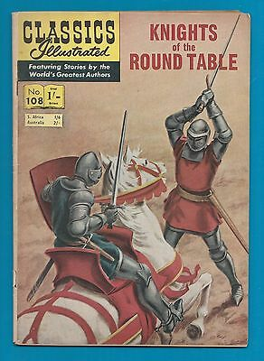 Classics Illustrated Comic Book # 108  Knights of the Round Table   #744