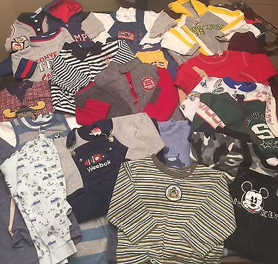 Lot of 31 Pieces of Toddler Boys Clothes, Size 24 Months And Equivalent.