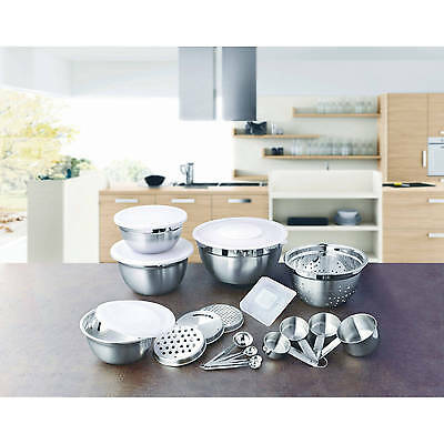 Better Homes and Garden 21-Piece Prep and Store Kitchen Set white