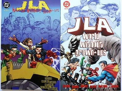 JLA World Without Grown-Ups – Books 1 & 2 (1998) 2 Issue series Graphic Novel