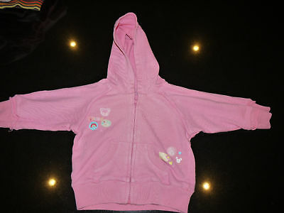George, girls pink hooded fleece,  6 - 9 mths