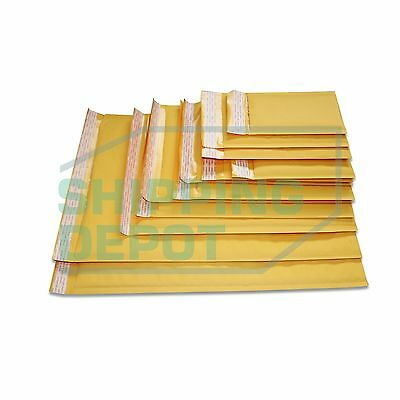 1-3000 Kraft Bubble Self Seal Mailers #000 #00 #0 #DVD #CD #1 #2 #3 #4 #5 #6 #7