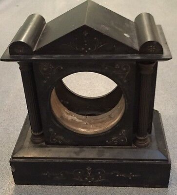 black slate clock case vintage for spares repairs Collection Romford
