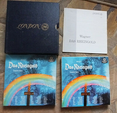 Double Set London 7 1/2 Ips Lor 90006 Wagner  Das Rheingold (Complete Opera)
