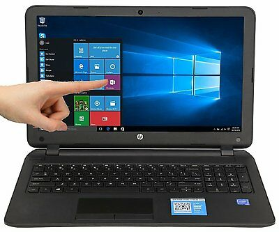 "New HP 15.6"" Touch screen Laptop Intel/4GB/500GB/Win 10/DVD-RW/HDMI/WiFi/Webcam"