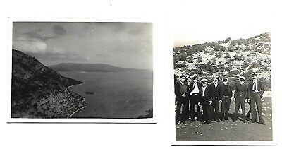 HMS Repulse - photograph of Officers on Ban Yan Party in Platia, Greece Jan 1937
