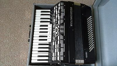 WELTMEISTER CORDAL 80 Bass Brand New Black Accordion