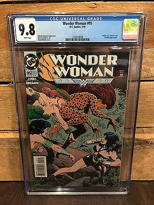 Wonder Woman #95 Cgc 9.8 Nm/mt Poison Ivy And Ceshire App (Id 7441)
