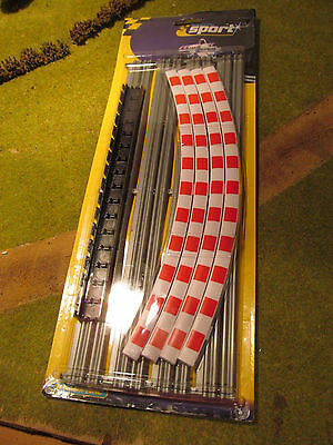 NEW Scalextric Sport C8268 Curved Kerbs & Barriers 1:32 Slot Car Track Accessory