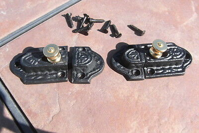 Pair of Cast Iron Turn Latches