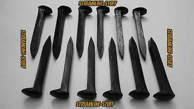 "12 BRAND NEW Railroad Spikes LOT 6.75"" Train Track Nails THE BLACKSMITH'S DOZEN"