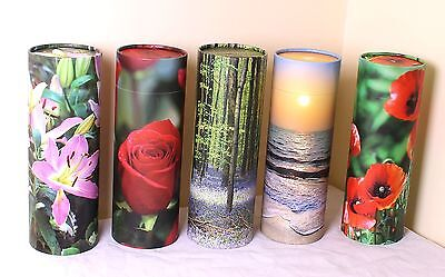 Scatter Tube Ashes Urns Eco Biodegradable Cremation Funeral 5 designs 3 size