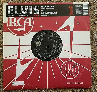 """Elvis Presley 'she's Not You' New And Unplayed 10"""" Vinyl Reissue"""