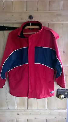 Boys or Girls Red/Blue Peter Storm coat age 11/12