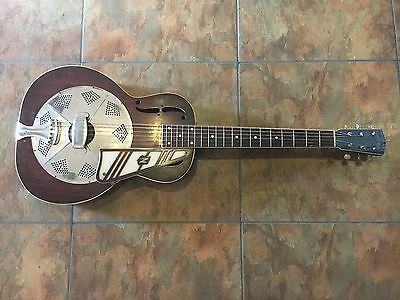 National Resonator Guitar Vintage Acoustic Circa 1934 RARE 14 Fret w/ Pickguard