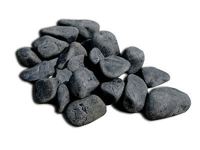 3 kg BLACK PEBBLES NATURAL AQUARIUM DECORATION