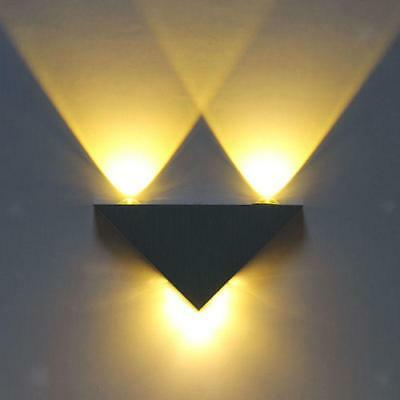 3w led triangle wall light hallway bedroom sconce lamp fixture warm white