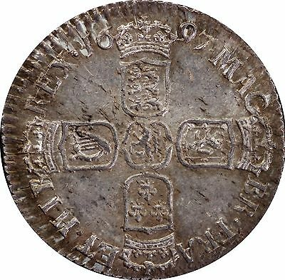 1697 William III Sixpence silver coin