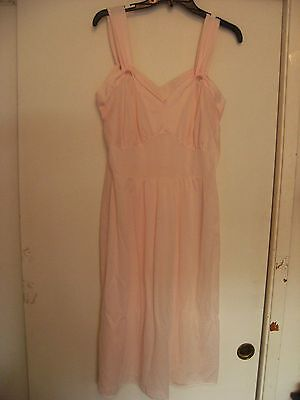 vintage 60s barely there pink nylon slip size 38