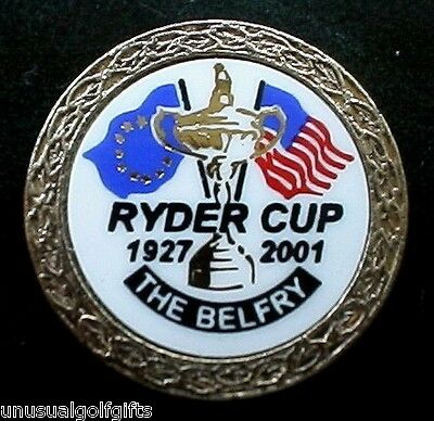 Ryder Cup 2001 Old Stem Golf Ball Marker Rare 2001 Dated Marker Cancelled Event