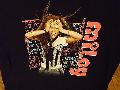 Miley Cyrus Best of both worlds tour shirt Youth  M  Anvil