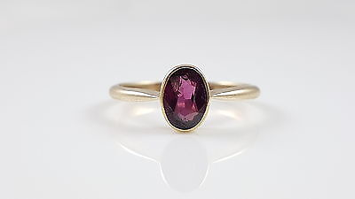 Antique Edwardian 18Ct 18Kt Yellow Gold Amethyst Ring Circa 1905
