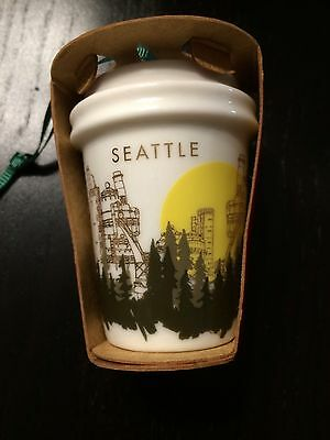 Starbucks Exclusive 2015 Seattle Christmas Holiday Ornament - Unopened