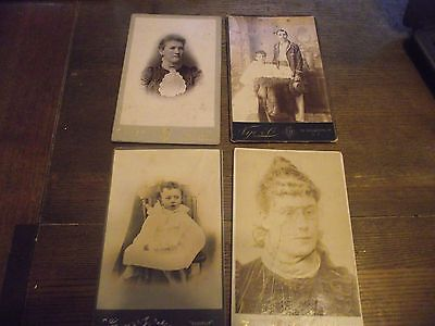 Large Cabinet Card Photographs