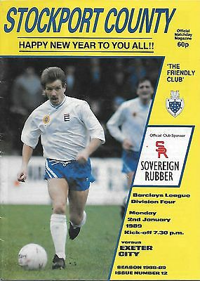 Stockport County v Exeter City - 02/01/1989