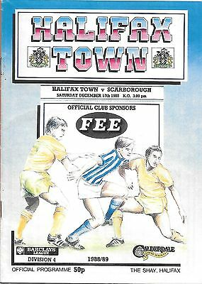 Halifax Town v Scarborogh - 17/12/1988