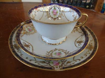Good Antique Noritake Porcelain Cup, Saucer And Plate. #4. C1900.