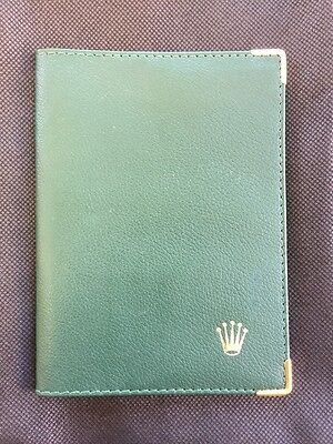 Rolex Green Leather Wallet - Great Condition