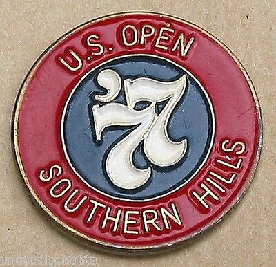 "Us Open 1977 Golf Design 1"" Coin Old Ball Marker Southern Hills Country Club"