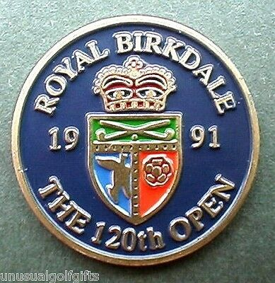 "1991 British Open Golf Ball Marker - 1"" Coin Royal Birkdale Golf Club"