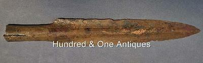 Ancient European Bronze Socked Spearhead Bronze Age 11th-8th century B.C. • CAD $1,505.04