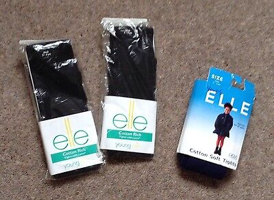 Brand New Age 3-4 Years 2x Black Tights,1 Pair Navy Tights Elle Brand