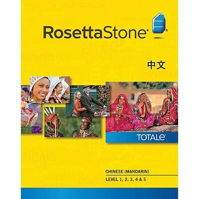 BRAND NEW ROSETTA STONE Chinese Set Levels 1-5 included!