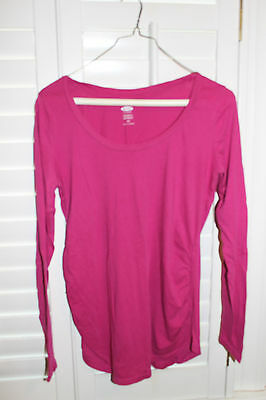Old Navy Women's Maternity Pink Long Sleeve Shirt Size Small