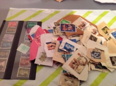 Charity unsorted stamps High Values and unfranked Noticed plus Penny Reds @@@@@@