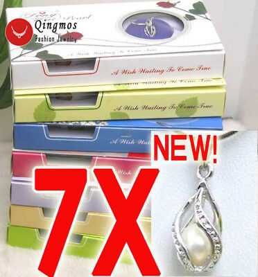 7X Drop Pendant Necklace for Women Natural Oyster Wish Pearl Necklace Chokers