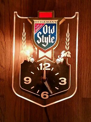Heileman's Old Style Beer Lighted Clock