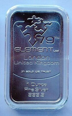 1oz. 79th Element  Pure Silver Bar 9999 London (8)