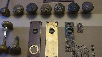 Antique Chicago Board Of Education Door Knobs And Lock